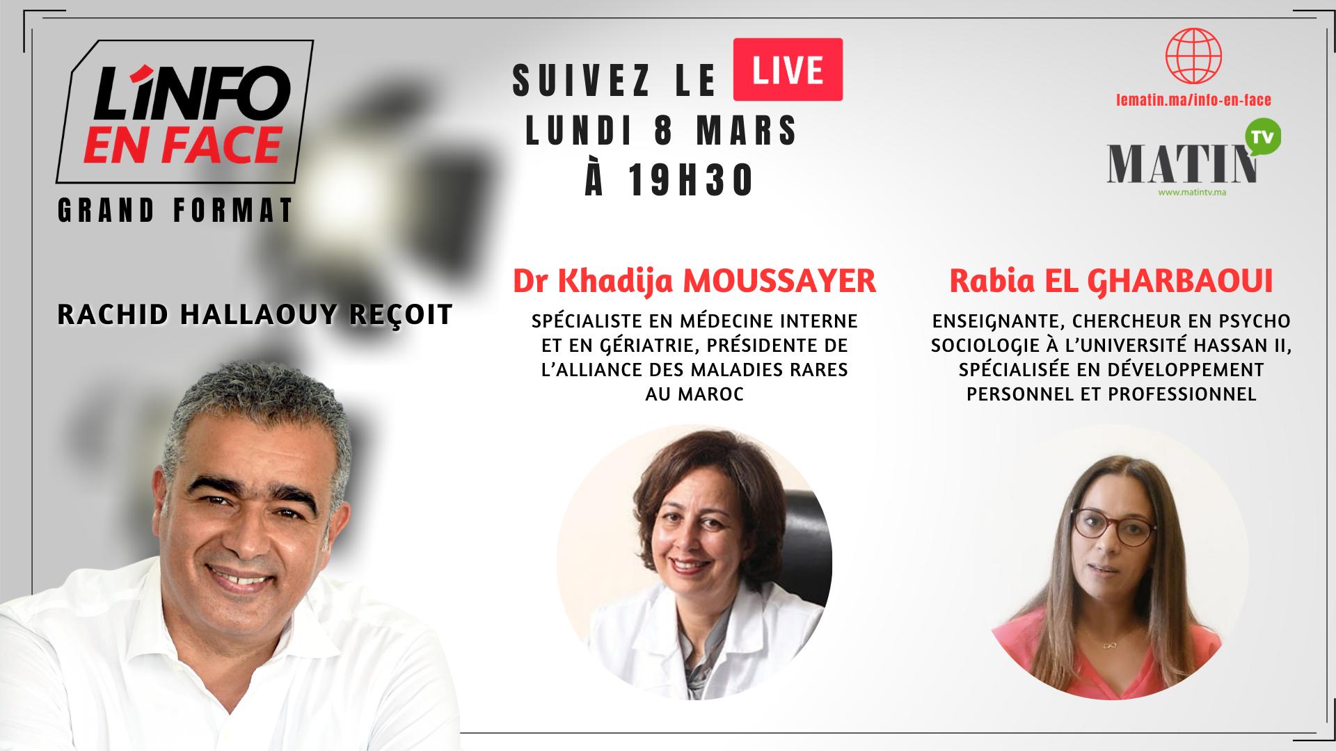 Live : L'Info en Face spécial 8 mars