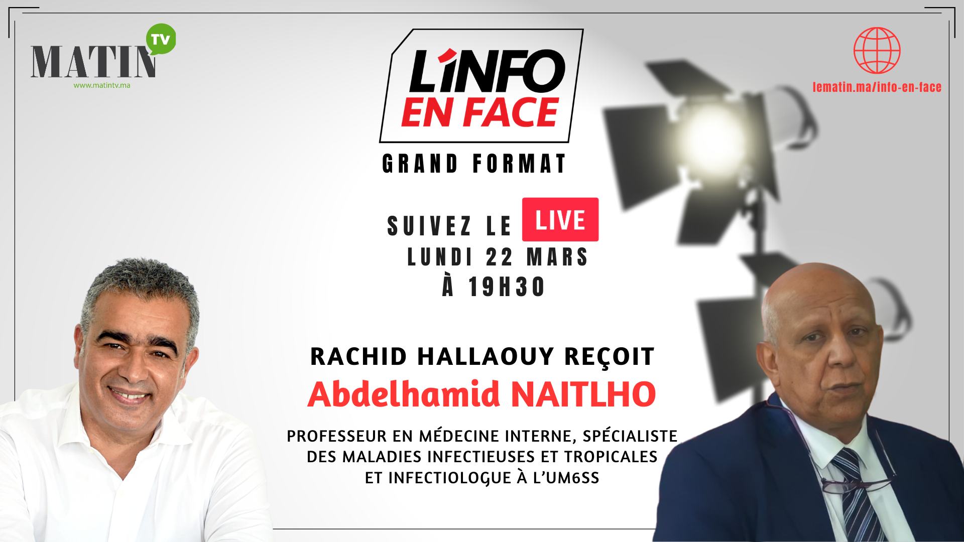 Live : L'Info en Face avec Pr. Abdelhamid Naitlho