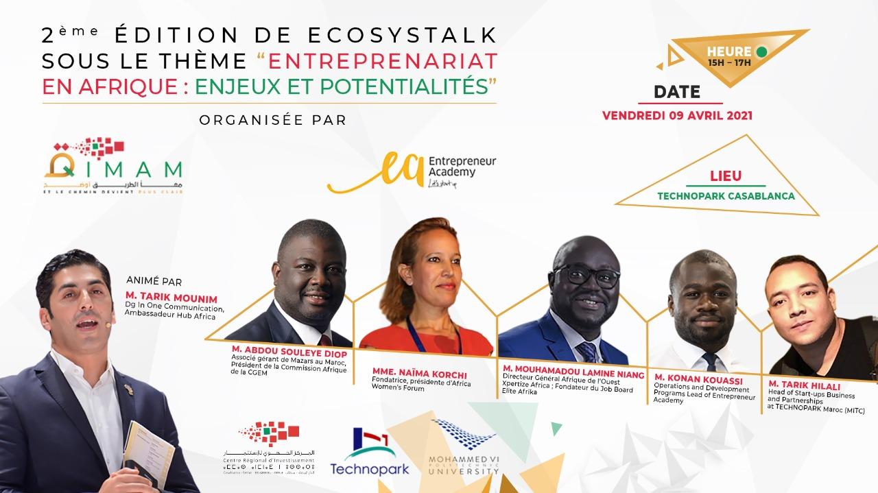 Live : ECOSYSTALK 2 - Entreprenariat en Afrique : Enjeux et Potentialités