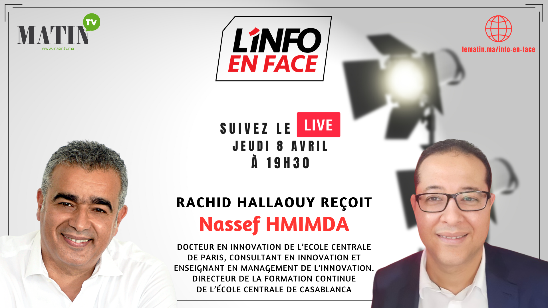 Live : L'Info en Face avec Nassef Hmimda