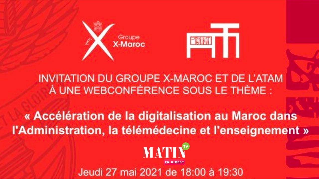 Live : X-Maroc & ATAM : L'accélération de la digitalisation au Maroc au cœur du débat