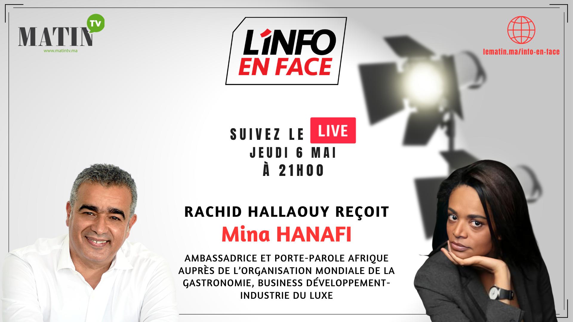 Live : L'Info en Face éco avec Mina Hanafi