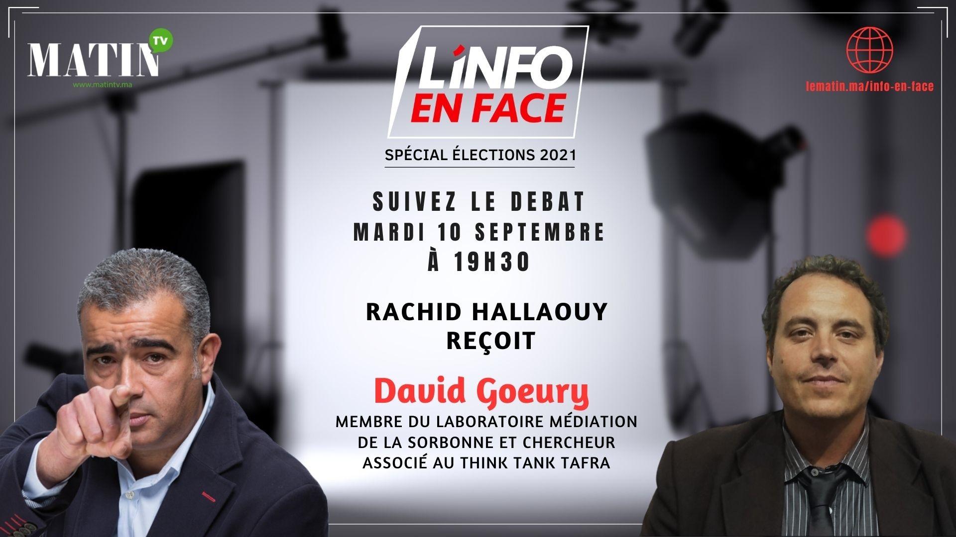 Live : L'Info en Face avec le politologue David Goeury