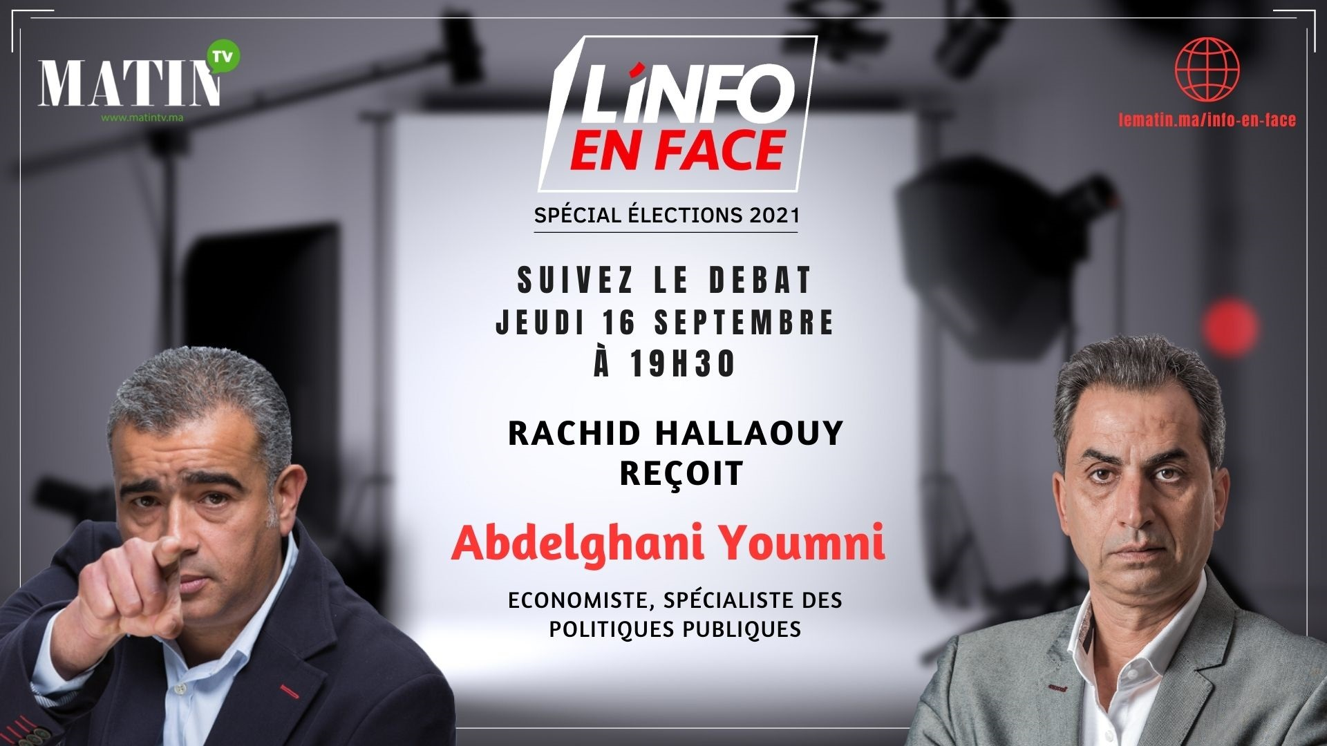 Live : L'Info en Face éco avec Abdelghani Youmni