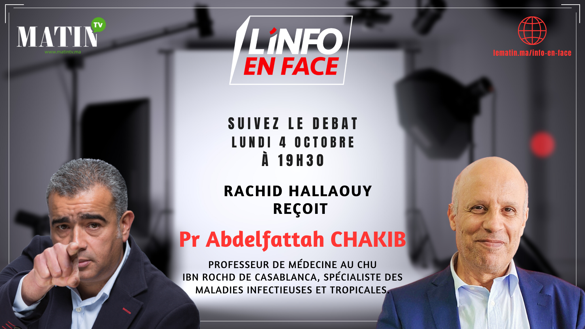 Live : L'Info en Face avec Abdelafettah Chakib