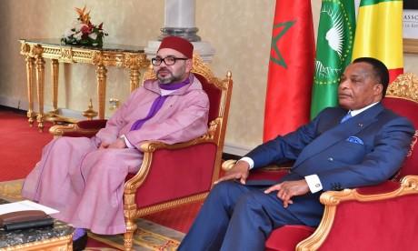 Entretiens en tête-à-tête entre S.M. le Roi et le Président de la République du Congo