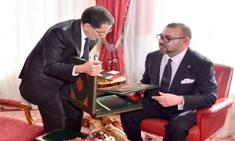 S.M. le Roi reçoit le Chef du gouvernement, le ministre de l'Intérieur et le ministre de l'Economie et des Finances