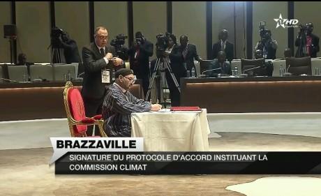 Sa Majesté le Roi signe le protocole instituant la Commission Climat du bassin du Congo