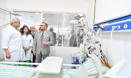 S.M. le Roi inaugure l'hôpital préfectoral «Prince Moulay Abdallah» à Salé