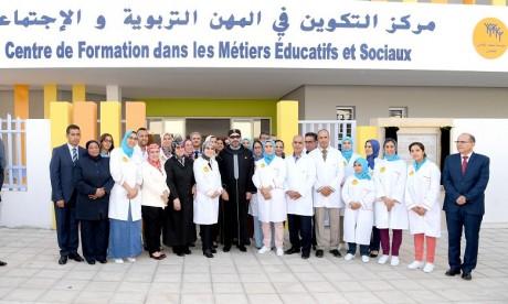 S.M. le Roi inaugure à Rabat un Centre de formation dans les métiers éducatifs et sociaux