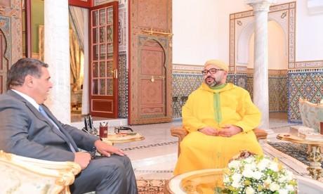 S.M. le Roi reçoit M. Aziz Akhannouch