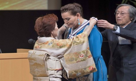 Video : S.A.R. la Princesse Lalla Hasnaa reçoit à Tokyo le prix international GOI Peace 2018