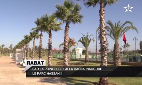 S.A.R. la Princesse Lalla Hasnaa inaugure le Parc Hassan II de Rabat