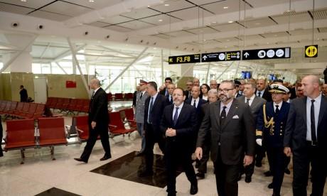 S.M. le Roi inaugure le nouveau Terminal 1 de l'aéroport Mohammed V de Casablanca et lance plusieurs infrastructures aéroportuaires de portée nationale