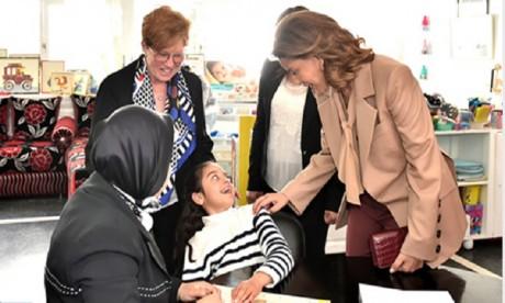 """Video : S.A.R. la Princesse Lalla Meryem préside à Rabat la célébration des cinquante ans de """"Al Manar-Association des personnes handicapées mentales"""""""