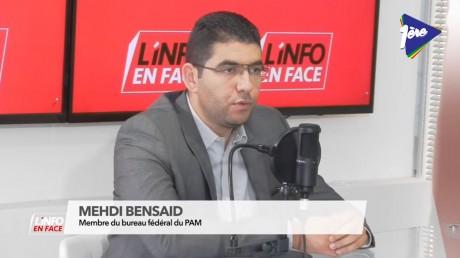 Mehdi Bensaid, invité de L'Info en Face