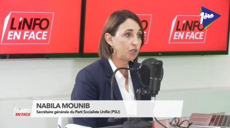 Nabila Mounib, SG du Parti socialiste unifié, invitée de l'Info en Face