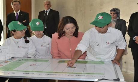S.A.R la Princesse Lalla Hasnaa préside à Bouknadel la cérémonie d'inauguration du Centre international Hassan II de formation à l'environnement