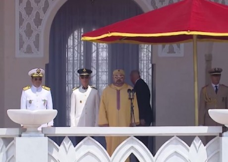 S.M. le Roi préside la cérémonie de prestation de serment des officiers lauréats des grandes écoles militaires et paramilitaires