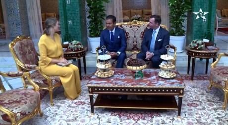 S.A.R. le Prince Moulay Rachid reçoit le Grand-Duc héritier de Luxembourg et son épouse