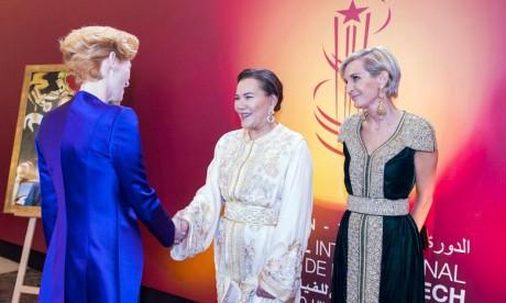 S.A.R. la Princesse Lalla Hasnaa préside un dîner offert par S.M. le Roi à l'occasion de l'ouverture officielle de la 18e édition du FIFM