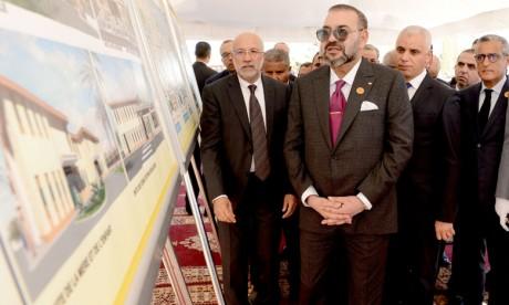 """S.M. le Roi lance les travaux de construction d'un """"CMP-Fondation Mohammed V pour la Solidarité"""" à Fès"""