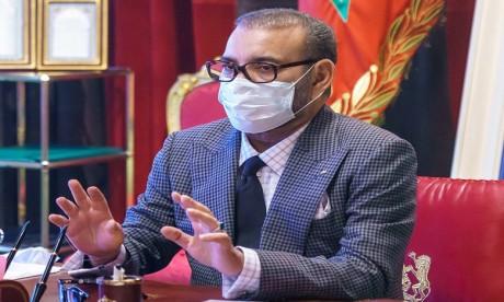 S.M. le Roi préside une séance de travail consacrée à la stratégie de vaccination contre la Covid-19